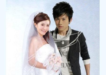 张杰谢娜唯美婚纱照
