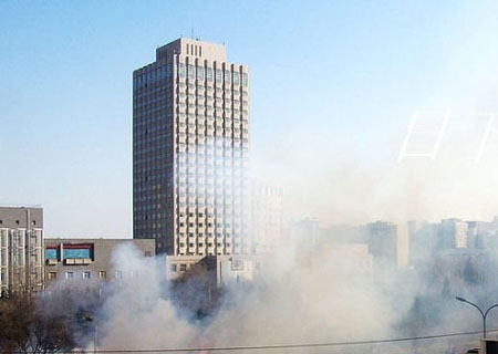北京电影学院附近起火现场